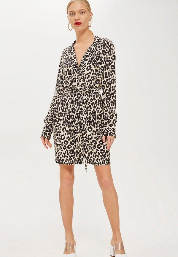 Купить Платье Topshop, TO029EWCUWT2, бежевый, Осень-зима 2018/2019