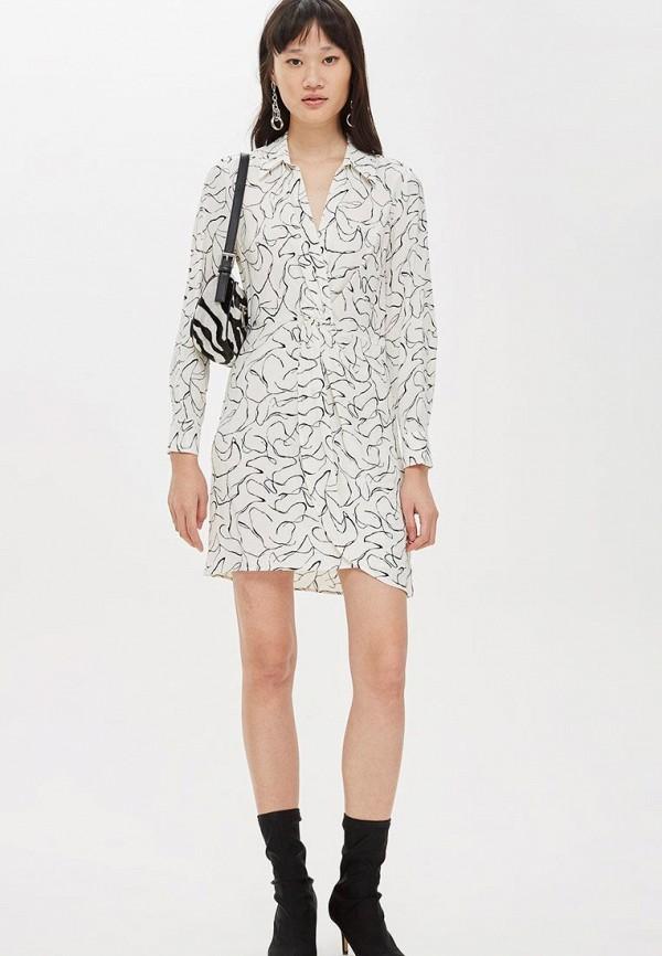 Купить Платье Topshop, TO029EWCUWT3, белый, Осень-зима 2018/2019