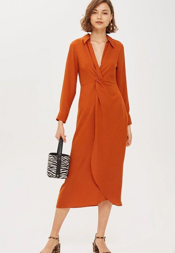 Купить Платье Topshop, TO029EWCUWT6, оранжевый, Осень-зима 2018/2019