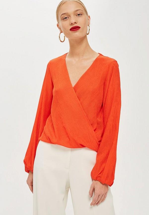 Купить Блуза Topshop, to029ewcuwu7, оранжевый, Осень-зима 2018/2019