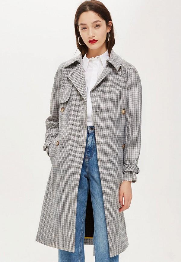 Купить Пальто Topshop, TO029EWCWBX1, серый, Осень-зима 2018/2019