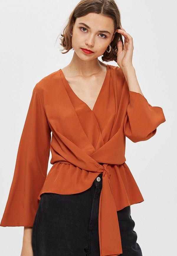 Купить Блуза Topshop, to029ewcwby1, коричневый, Осень-зима 2018/2019