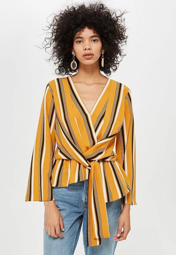 Купить Блуза Topshop, TO029EWCWBY4, желтый, Осень-зима 2018/2019