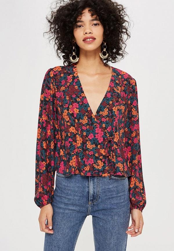 Купить Блуза Topshop, to029ewdbuk1, бордовый, Осень-зима 2018/2019