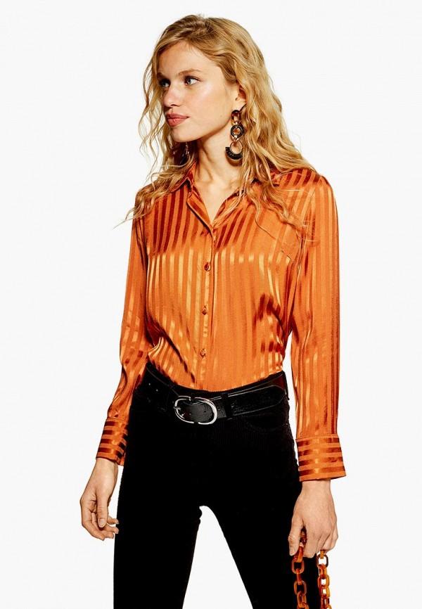 Купить Блуза Topshop, to029ewdfhc3, оранжевый, Осень-зима 2018/2019