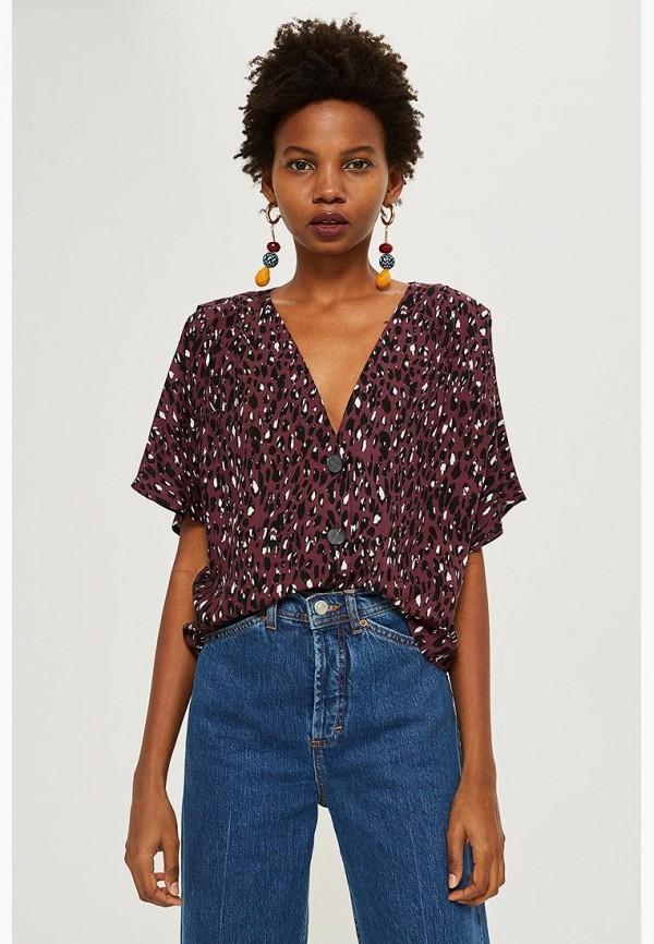 Купить Блуза Topshop, to029ewdfhc5, бордовый, Осень-зима 2018/2019