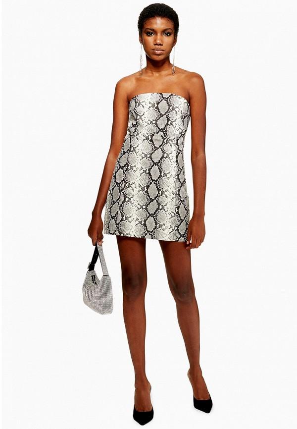 женское вечерние платье topshop, серое