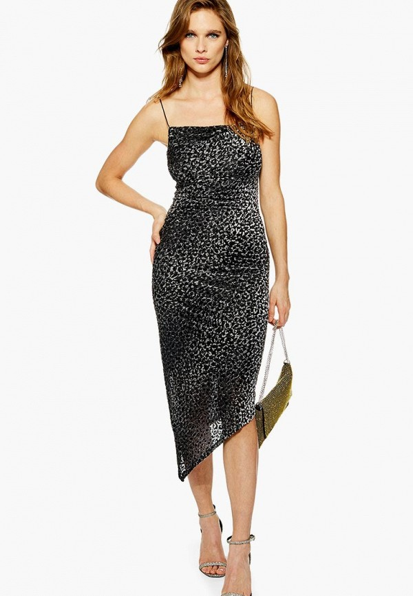 Купить Платье Topshop, to029ewdhos7, серый, Осень-зима 2018/2019