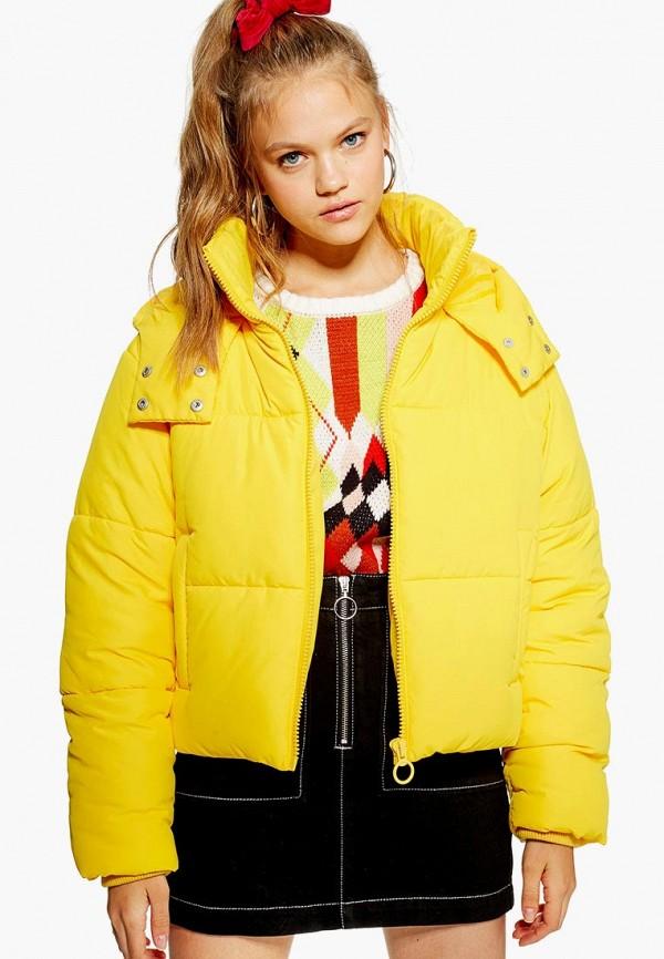 Купить Куртка утепленная Topshop, to029ewdhos9, желтый, Осень-зима 2018/2019