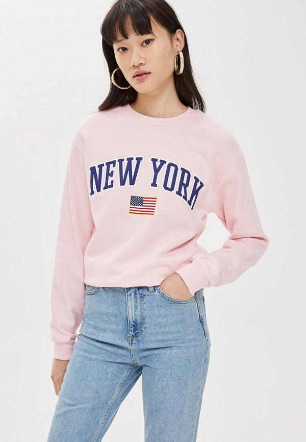Купить Свитшот Topshop, to029ewdhot3, розовый, Осень-зима 2018/2019