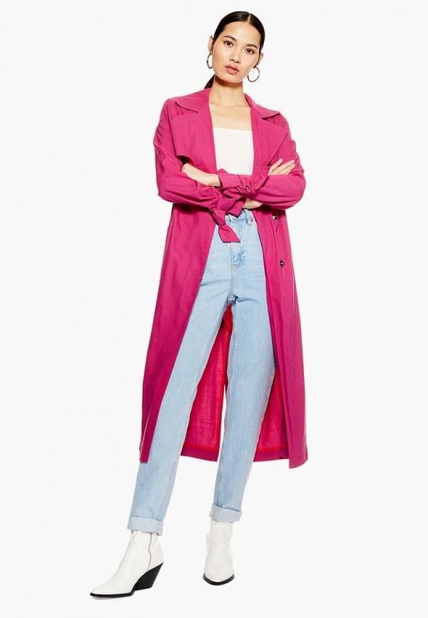 Купить Плащ Topshop, to029ewdmpb6, розовый, Осень-зима 2018/2019