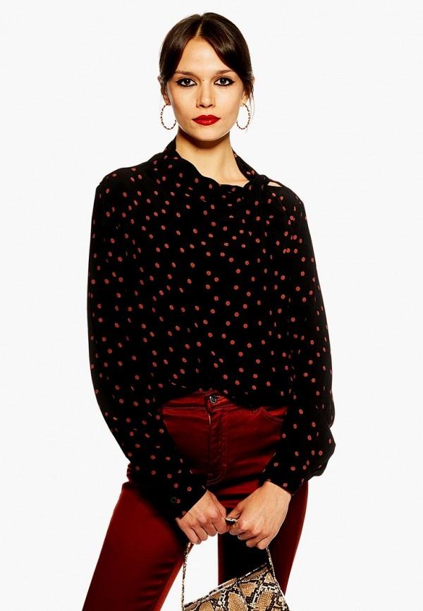 Купить Блуза Topshop, to029ewdnhx5, черный, Осень-зима 2018/2019