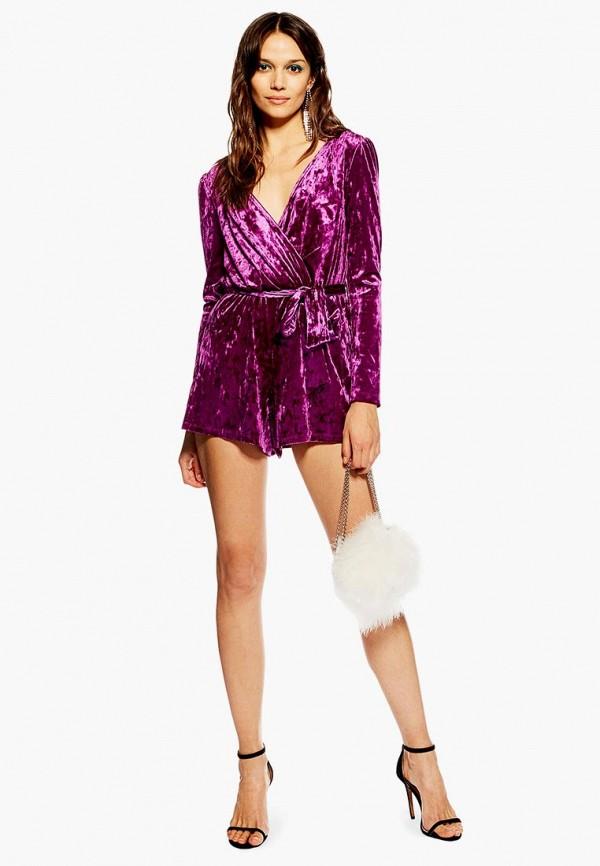 женский комбинезон topshop, фиолетовый