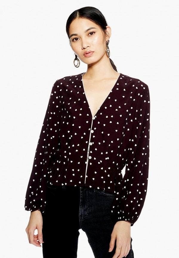 Купить Блуза Topshop, to029ewdpfe3, коричневый, Осень-зима 2018/2019