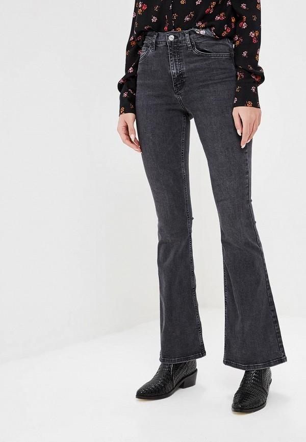 женские джинсы клеш topshop, серые