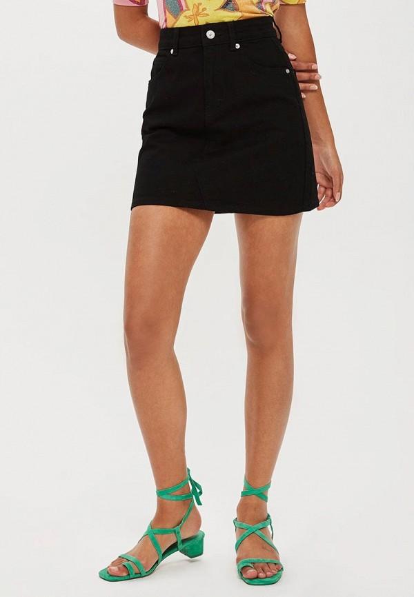 женская юбка клеш topshop, черная