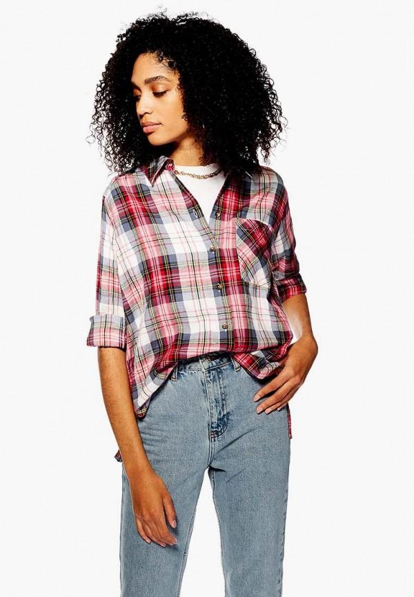 женская рубашка с длинным рукавом topshop, разноцветная