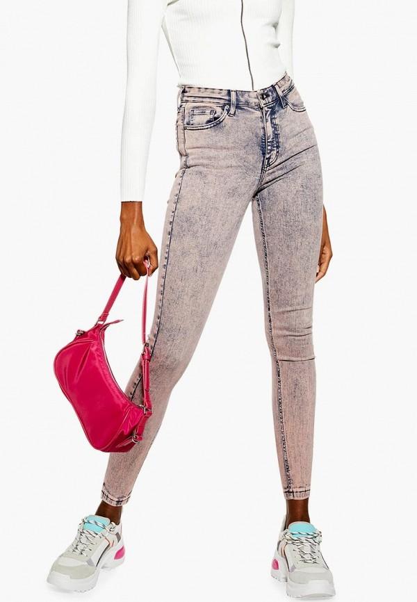 женские джинсы topshop, розовые