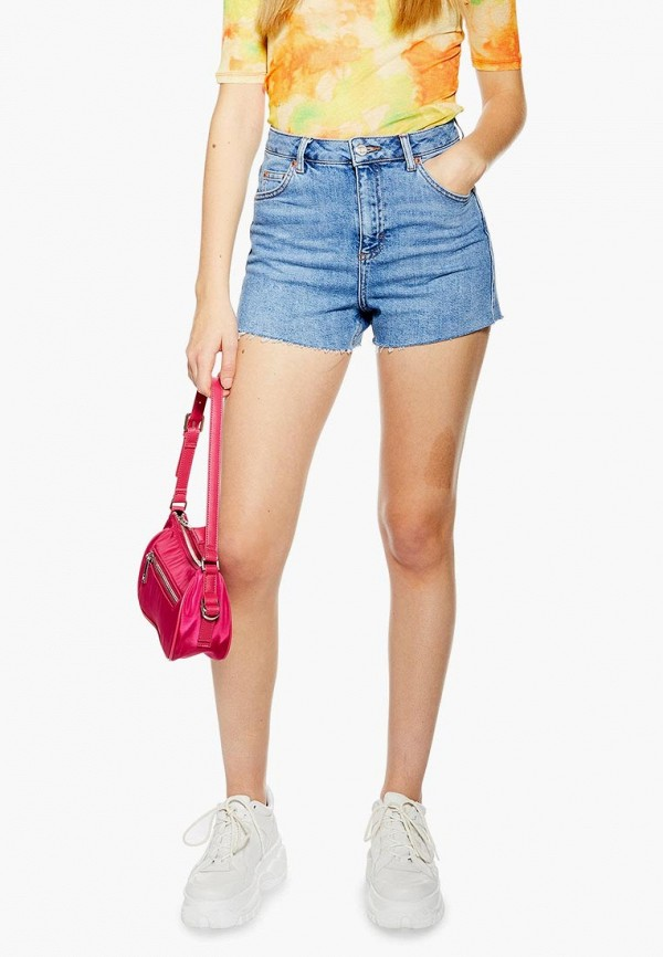 Шорты джинсовые Topshop Topshop TO029EWEIQE7 цена 2017