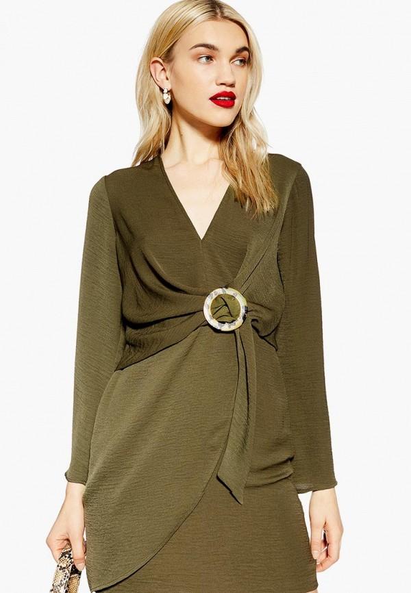 женское повседневные платье topshop, хаки