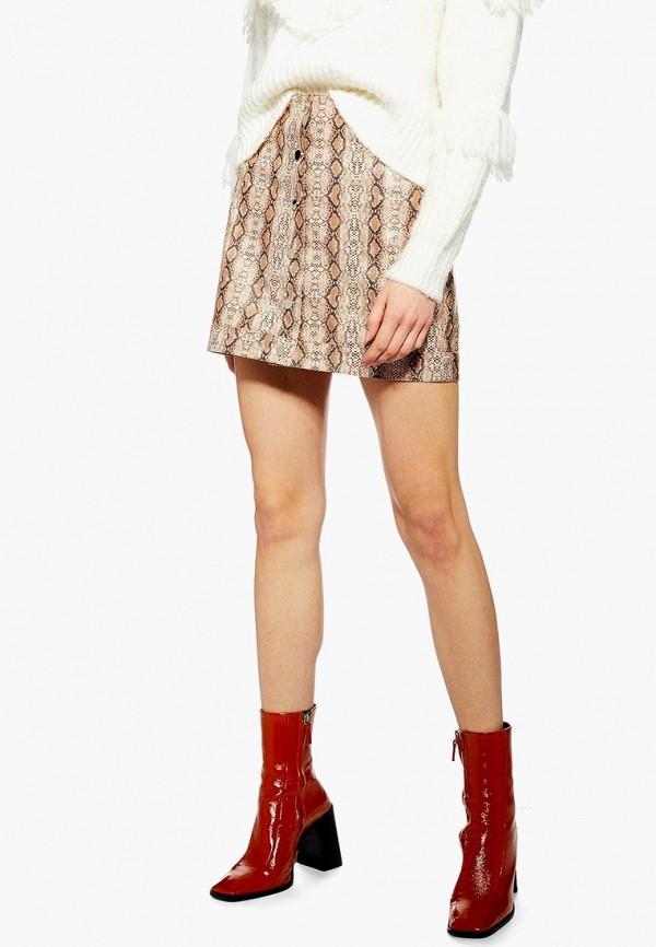 женская юбка topshop, бежевая
