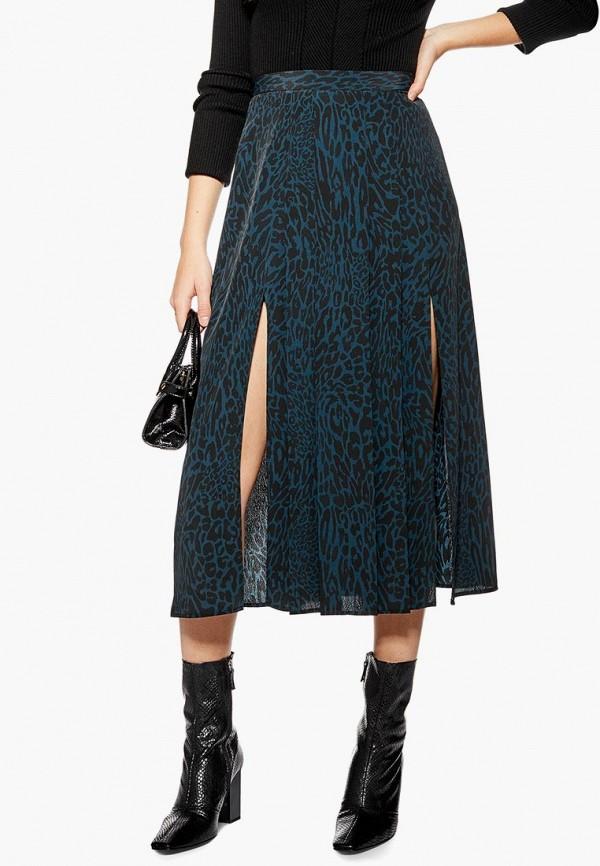 женская юбка topshop, синяя