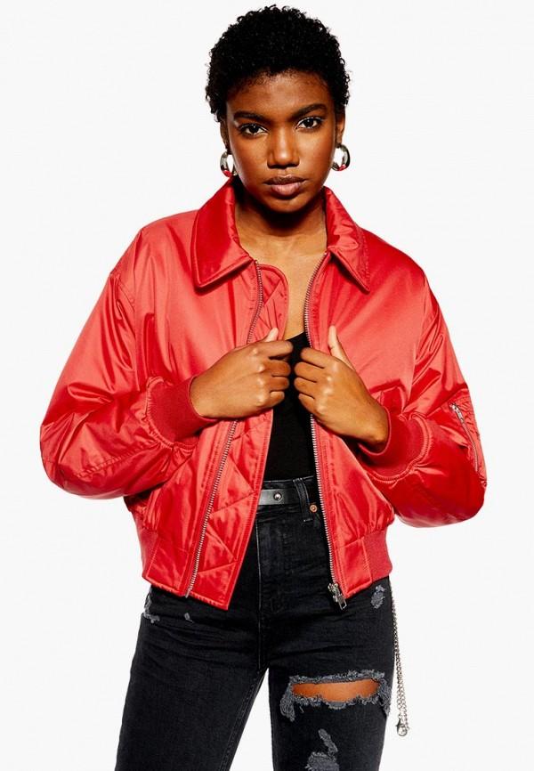 женская куртка topshop, красная