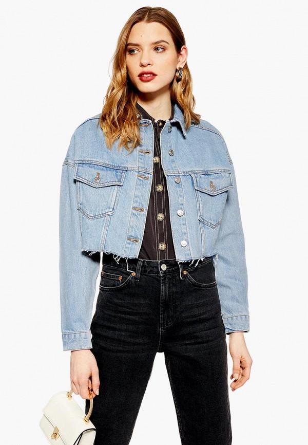 Куртка джинсовая Topshop Topshop TO029EWEOQV0 куртка утепленная topshop topshop to029ewdiqj8