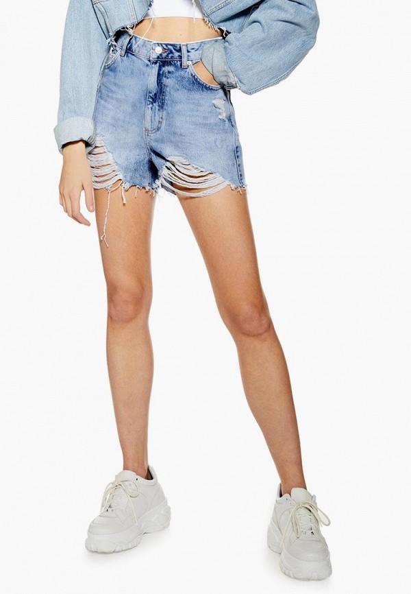 Шорты джинсовые Topshop Topshop TO029EWESBS2 цена 2017