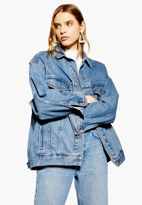 Куртка джинсовая Topshop Topshop TO029EWEUIV8 куртка утепленная topshop topshop to029ewdiqj8