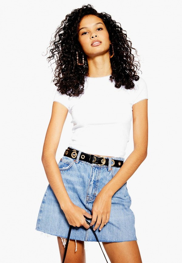женская футболка topshop, белая