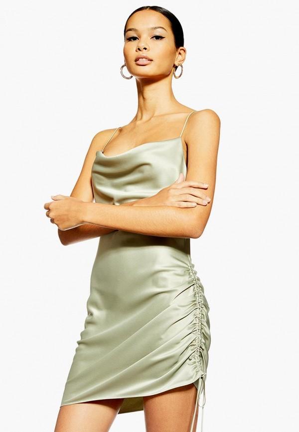 женское вечерние платье topshop, хаки