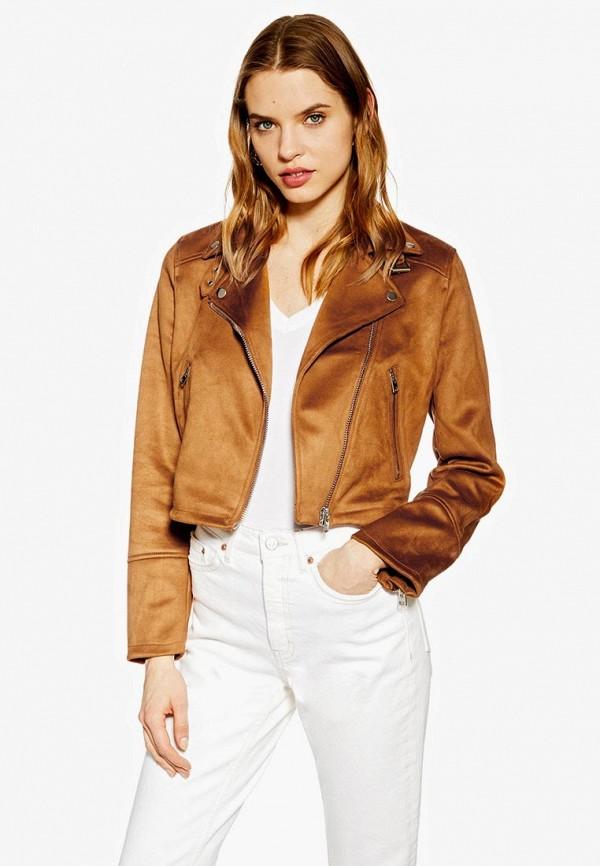 Куртка кожаная Topshop Topshop TO029EWEXWM6 куртка утепленная topshop topshop to029ewdiqj8