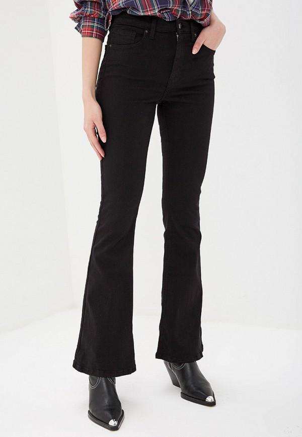 женские джинсы клеш topshop, черные