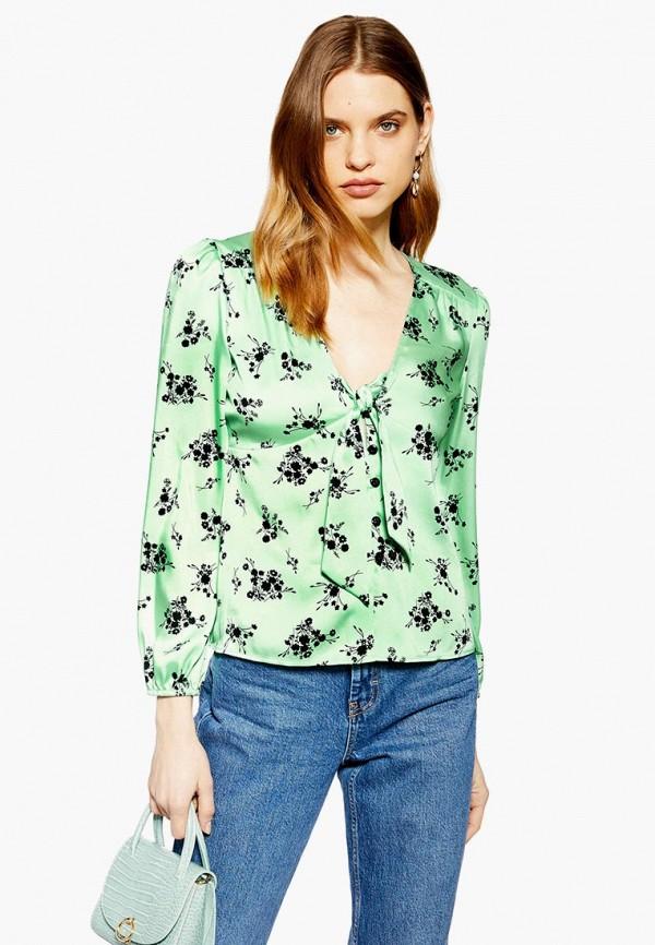 женская блузка topshop, зеленая