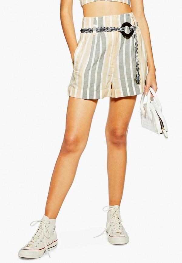 Купить женские шорты Topshop бежевого цвета