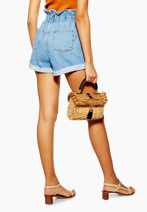 Фото 8 - Шорты джинсовые Topshop голубого цвета