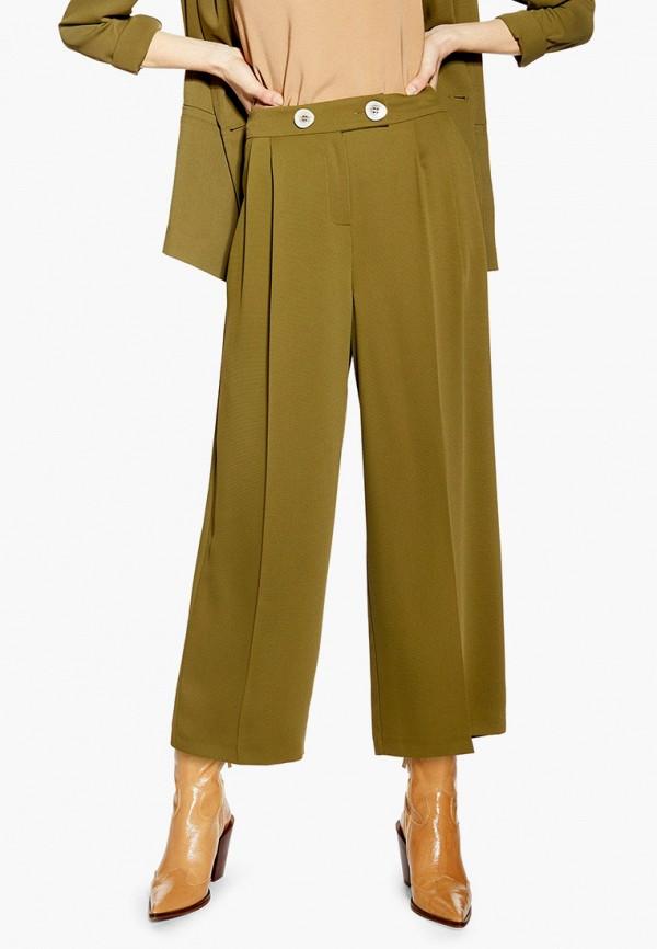 женские повседневные брюки topshop, хаки
