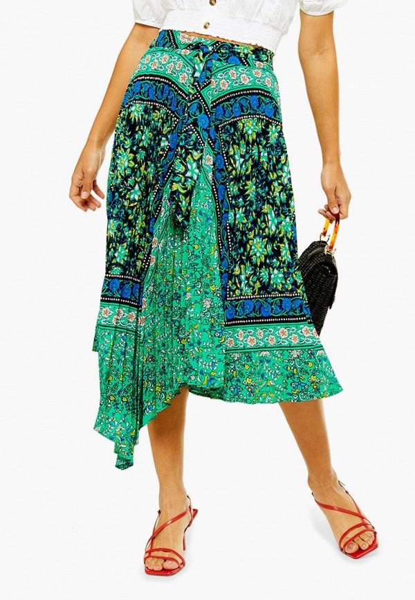 женская юбка topshop, бирюзовая