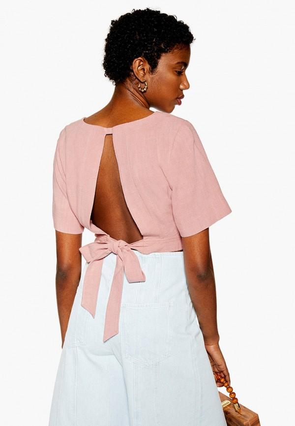 Фото 2 - женскую блузку Topshop розового цвета