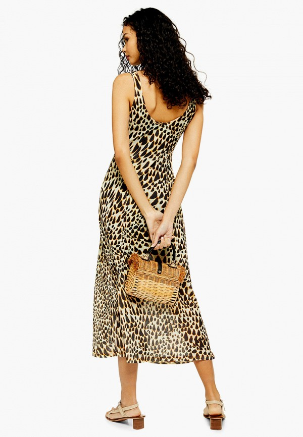 Фото 2 - женское платье Topshop коричневого цвета