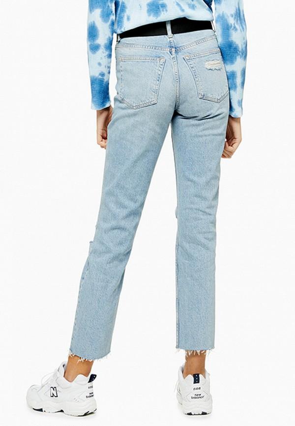 Фото 5 - женские джинсы Topshop голубого цвета