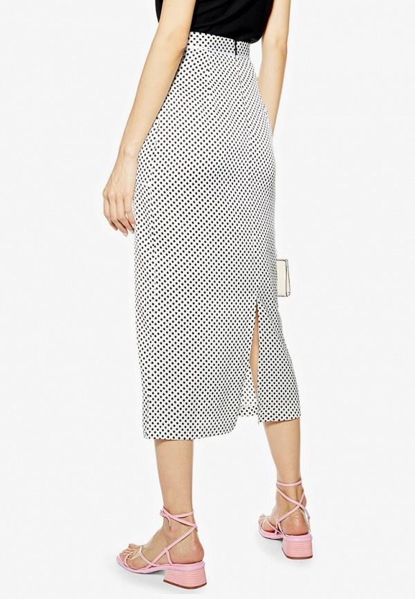 Фото 2 - женскую юбку Topshop белого цвета