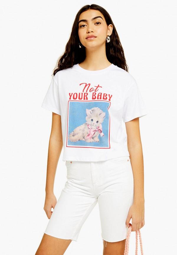Фото - женскую футболку Topshop белого цвета