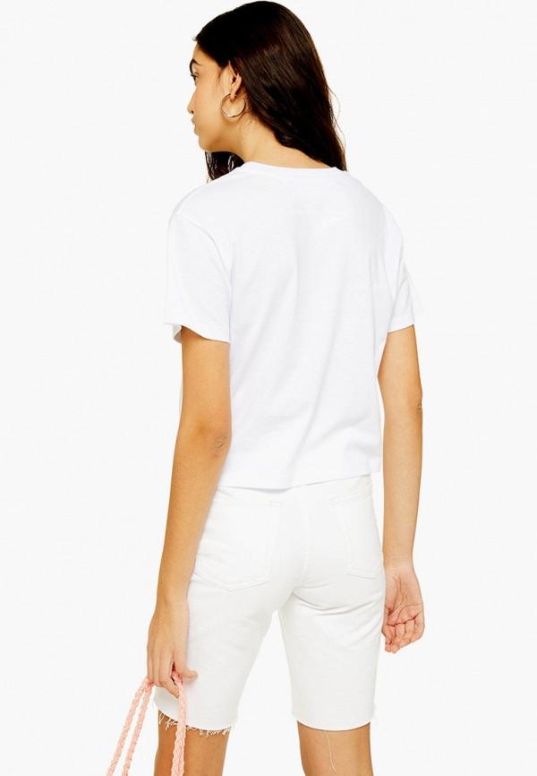 Фото 2 - женскую футболку Topshop белого цвета