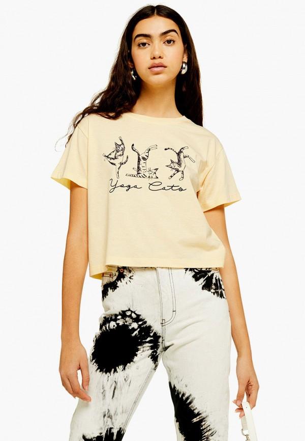 Фото - женскую футболку Topshop бежевого цвета
