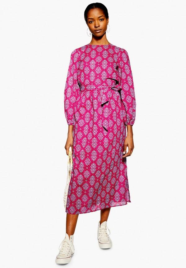 Фото - Женское платье Topshop розового цвета