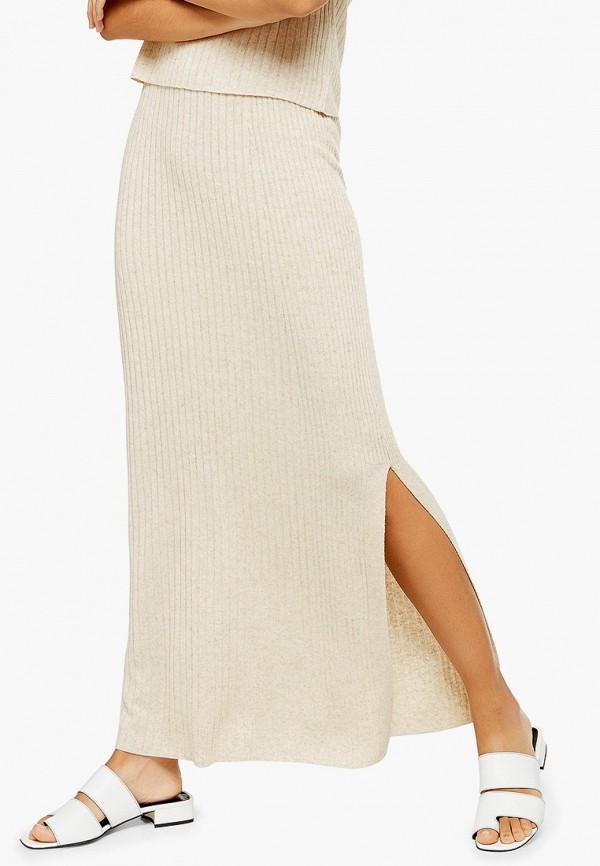 Фото - Женскую юбку Topshop бежевого цвета