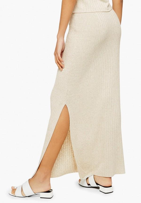 Фото 2 - Женскую юбку Topshop бежевого цвета