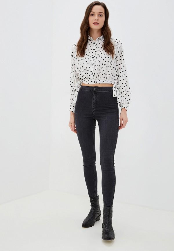 Фото 2 - женские джинсы Topshop серого цвета